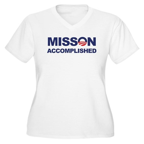Mission Accomplished (Obama) Women's Plus Size V-N