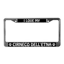 I Love My Cirneco dell'Etna License Plate Frame