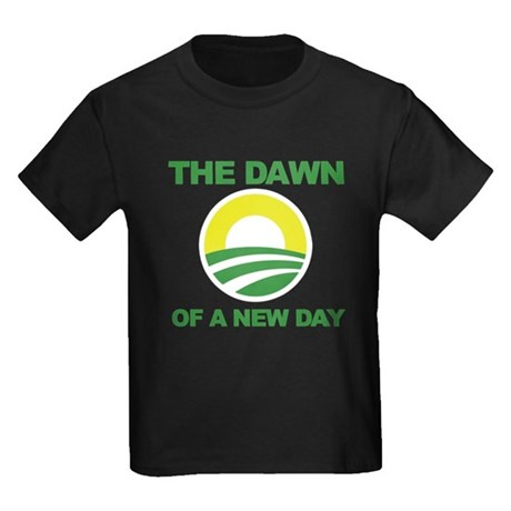 The Dawn of a New Day Obama Kids Dark T-Shirt