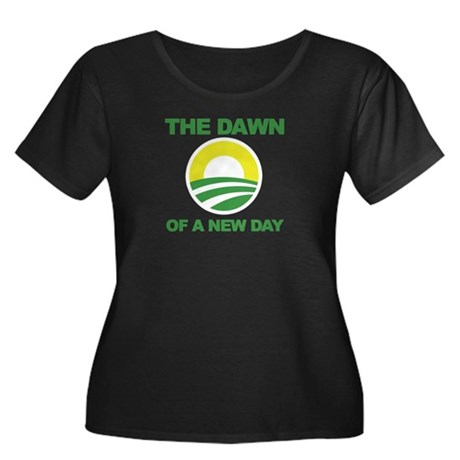 The Dawn of a New Day Obama Women's Plus Size Scoo