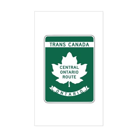 Trans-Canada Highway, Ontario Rectangle Sticker
