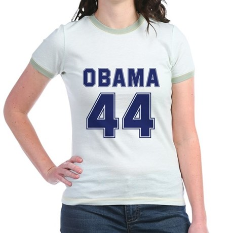 Obama 44th President Jr. Ringer T-Shirt