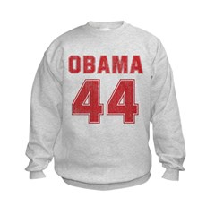 44th President (red vintage) Kids Sweatshirt