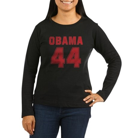 44th President (red vintage) Women's Long Sleeve D