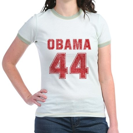 44th President (red vintage) Jr. Ringer T-Shirt