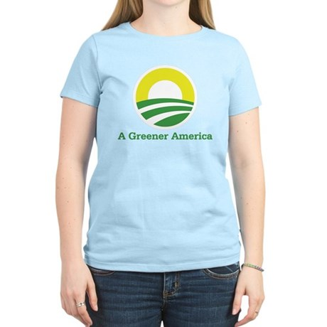 Obama for a Greener America Women's Light T-Shirt