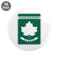 "Trans-Canada Highway, Quebec 3.5"" Button (10 pack)"