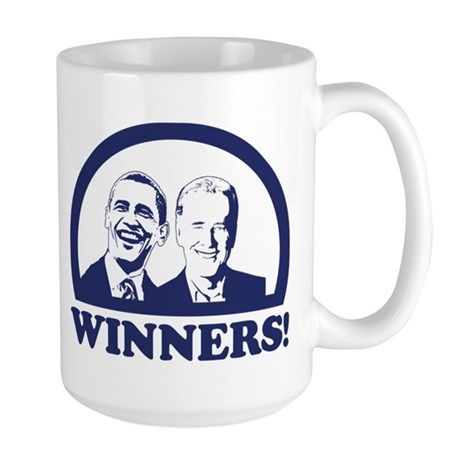 Winners! Obama and Biden Large Mug