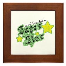 Great Grandpa's Super Star Framed Tile