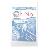 Oh No Obama - Scream Rectangle Decal