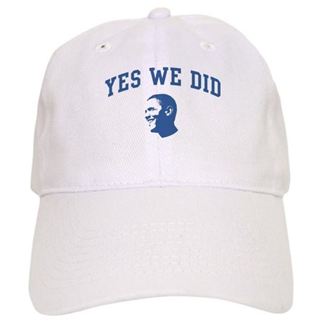 Yes We Did (Obama Face) Cap