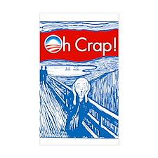 Oh Crap Obama Scream Rectangle Decal