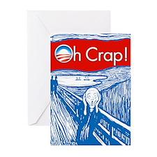 Oh Crap Obama Scream Greeting Cards (Pk of 10)