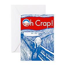 Oh Crap Obama Scream Greeting Card