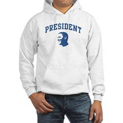 President Barack Obama (face) Hooded Sweatshirt