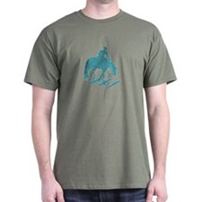 Teal trail horse with poles T-Shirt