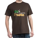 Powered By Pasta Funny Runner Dark T-Shirt