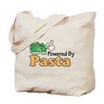 Powered By Pasta Funny Runner Tote Bag