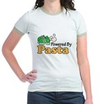 Powered By Pasta Funny Runner Jr. Ringer T-Shirt