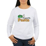 Powered By Pasta Funny Runner Long Sleeve T shirt