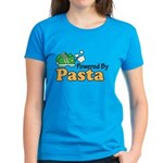 Powered By Pasta Funny Runner Women's Dark T-Shirt