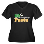 Powered By Pasta Funny Runner Women's Plus Size V-