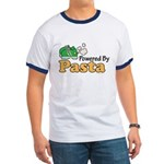 Powered By Pasta Funny Runner Ringer T