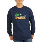 Powered By Pasta Funny Runner Long Sleeve Dark T-S