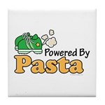 Powered By Pasta Funny Runner Tile Coaster