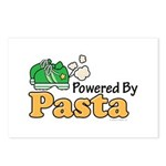 Powered By Pasta Funny Runner Postcards (Package o