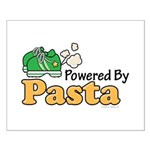 Powered By Pasta Funny Runner Small Poster