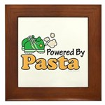 Powered By Pasta Funny Runner Framed Tile