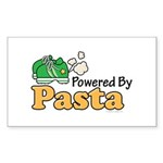 Powered By Pasta Funny Runner Rectangle Sticker