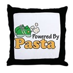 Powered By Pasta Funny Runner Throw Pillow