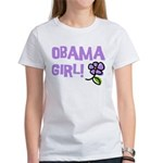 Flower Power Obama Girl Women's T-Shirt