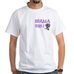 Flower Power Obama Girl White T-Shirt