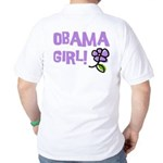 Flower Power Obama Girl Golf Shirt