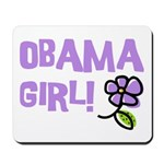 Flower Power Obama Girl Mousepad