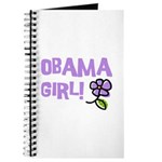 Flower Power Obama Girl Journal