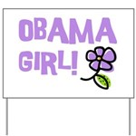 Flower Power Obama Girl Yard Sign