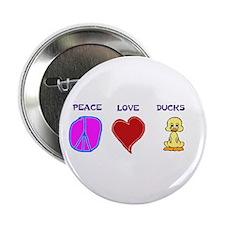 "Peace Love Ducks 2.25"" Button (100 pack)"