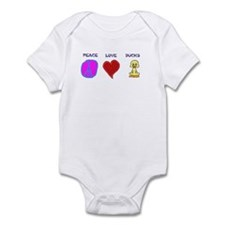 Peace Love Ducks Infant Bodysuit