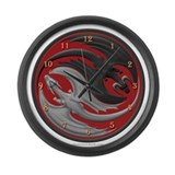 Dragon Yin Yang Large Wall Clock