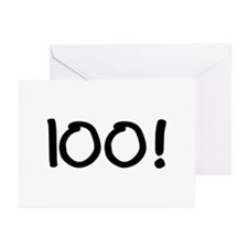 100! Greeting Cards (Pk of 20)