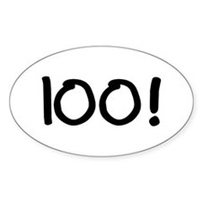 100! Oval Decal