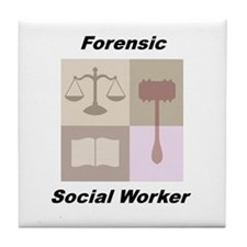 Forensic Social Worker Tile Coaster