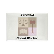 Forensic Social Worker Rectangle Magnet (100 pack)