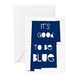 Blue Colorado/New Mexico Greeting Cards (Pk of 20)