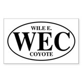 Wile E Coyote Rectangle Decal