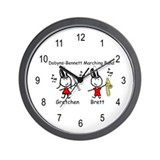 Clarinet & Trombone - Gretchen & Brett Wall Clock